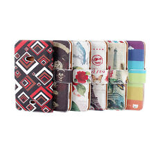 Brand New Wallet Floral Pouch Flip PU Leather Case Stand Fr Nokia Lumia N625