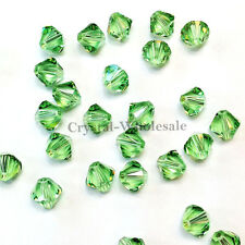 4mm Peridot (214) Genuine Swarovski crystal 5328 / 5301 Loose Bicone Beads