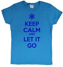 KEEP CALM AND LET IT GO LADIES T-SHIRT (SIZES S-2XL)