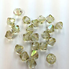 3mm Crystal Luminous Green (001 LUMG) Swarovski 5328 / 5301 Loose Bicone Beads