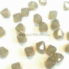 5mm Light Grey Opal (383) Swarovski crystal 5328 / 5301 Loose Bicone Beads
