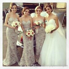 Stock White/Ivory Wedding Dress Bridal Gown Bridesmaid size:6 8 10 12 14 16
