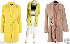 WAREHOUSE Womens Ladies Yellow or Pink Crepe Mac Trench Coat Jacket Size 6 - 16