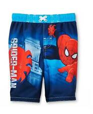 Toddler boys SWIM TRUNKS shorts SIZE 3T 4T 5T swimming suit SPIDER-MAN Spider