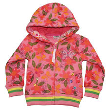 1-6Y Girl's Butterfly Embroidery Pure Cotton Zipper Flowers Autumn Hoodies Coat
