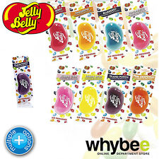 JELLY BELLY 3D HANGING AIR FRESHENER - 8 FLAVOURS -LONG LASTING IN CAR FRAGRANCE