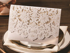 Elegant Floral Wedding Invitation Cards With Free Envelopes & Seals Kit WI1052
