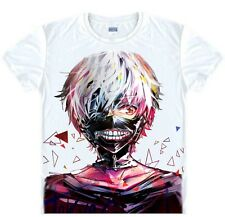 Japanese Anime tokyo ghoul Fully upgraded version White Short-sleeved T001