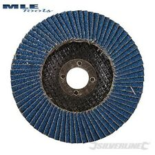 Silverline Zirconium Flap Disc 100mm 40 60 80 Grit flappy 783164 793818 763614