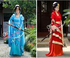 New Chinese Style Stage Performing Dress Fashion Womens Long Ancient Clothes