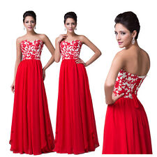 HOT DEAL~ Sexy Strapless Long Formal Bridesmaid Evening GOWN Prom Wedding Dress