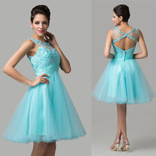 Sexy Women Girl Lady Backless Graduation Formal Wedding Evening Party Prom Dress