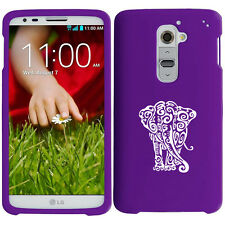 For LG G2 G3 Snap On 2 Piece Rubber Hard Case Cover Tribal Elephant