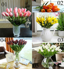 New 5pcs  Artificial Beautiful Tulip Flowers Party Leaf Home Garden Decoration