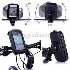 Motor Bike Bicycle Waterproof Handle Bar Case Bag Pouch For Mobile Smart Phone