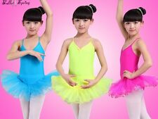 UK Stock Sale Girls Dress Leotard Lycra Ballet Tutu Costume Dance Dress 2075