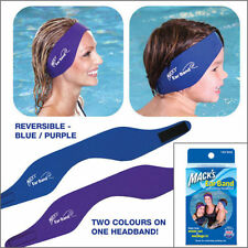 MACKS EAR BAND Swimming Headband and Swimming Putty Ear Plugs - FREE UK P&P!