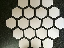 100 HEXAGON PATCHWORK QUILTING PAPER TEMPLATES ALL SIZES TO 3 INCH 90GSM WEIGHT