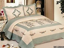High Quality fully quilted Quilts bedspread coverlet Bed Cover set Queen King
