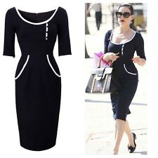 Simple Design Office Lady Wear To Work Bodycon Prom Party Evening Cocktail Dress