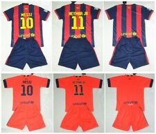 new 2014-2015 FCB shirt and short 3-14 years print MESSI NEYMAR or own name