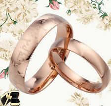 Rose Gold His&Her of the Dome Titanium Wedding Rings GMUS084B2