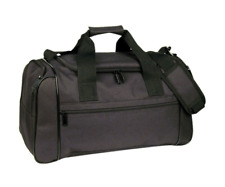 "DELUXE Zippered Duffle Duffel Bag Travel Sports Work Gym Bags Luggage 20"" Black"