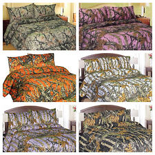 Comforter Camo  Sheets Bedding 6 Colors K,Q,F,T, New Matching Curtains.Allsizes