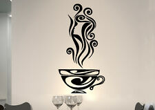 Wall Tattoo Saying CAFE Girl COFFEE Kitchen wkf16