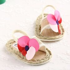 New Summer Cute Girls Sandals Infant Toddler Shoe Flower Baby Soft Sole Shoes