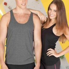 Plain Cotton T-Back Singlet | Men's Gym Exercise Fitness Top | Size S to 3XL