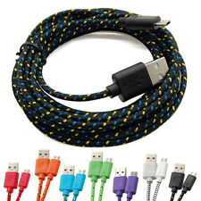 3M/10FT Rope Micro USB Charger Charging Sync Data Cable Cord for Cell Phone UT