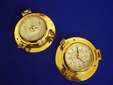 Solid Brass Tide clock or Barometer Boat Marine water related Christmas Present