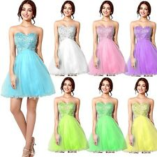 Fast Shipping Blue Short Mini Homecoming Prom Ball Dresses Party Cocktail Gowns