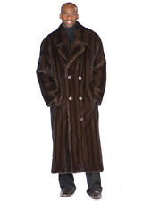 NEW: Mens Mahogany Mink Coat - Double Breasted Coat