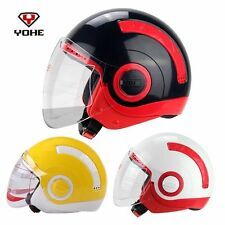 Brand New DOT Motorcycle 3/4 Open Face Half Helmet With Full Face shield Visor