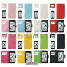 Premium Luxury Flip Wallet Leather Pouch Case Cover For iPhone 5C Card Holders