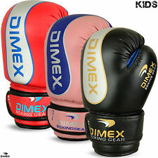 Kids Boxing Gloves Punch Bag Sparring MMA Training Mitts Size 4oz , 6oz -  NEW