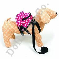 Fashion Style Little Dot Backpack Harness with Leash for Dog Cat Pet (Blue/Pink)