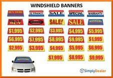 Windshield Banners Best Buy Sale EZ Finance Buy Here Pay Here Special Warranty
