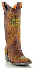 Colorado State University Rams Womens Cowboy Western GameDay Boots Leather Brown