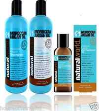 Organic Natural World  Moroccan Argan Oil Shampoo, Conditioner & Treatment Oil