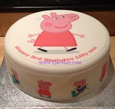 Peppa Pig 3 Edible Icing Topper/Decoration for Birthday Cake, Cupcakes & Buns