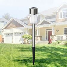 Solar Powered LED 7 Color Stainless Steel Spotlight Outdoor Yard Path Lawn Lamp