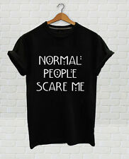 NoRMAL People SCARE me Black T shirt inspired by American horror Story New