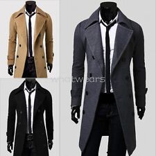 Stylish Mens Fashion Double-breasted Slim Fit Coats Long Jackets Suit W2114 GBW