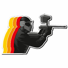 2 x Glossy Vinyl Stickers - Paintball Paint Ball Gun iPad Laptop Decal #4034
