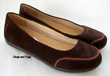 NEW CLARKS ACTIVE AIR FONDANT SYRUP BROWN SUEDE SHOES SIZE 7 / 41