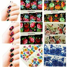 Beautiful Flower Decal Water Transfer Manicure Nail Art Stickers Tips Decoration