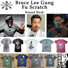 DJ Bruce Lee Gung Fu Scratch round neck T-shirts (AGE OF ULTRON) DELAY SHIPPING